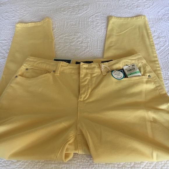 Charter Club Denim - CHARTER CLUB Skinny leg yellow jeans NWT😆